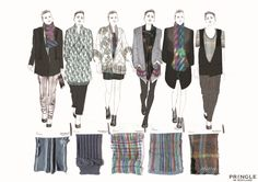 Fashion Portfolio - knitwear design inspired by Scottish heritage, architecture & glass panelling with illustrations & textile samples; fashion sketchbook // Nicole Bradshaw
