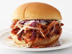 Slow-Cooker Pulled Pork Sandwiches Recipe : Food Network Kitchen : Food Network - oh my gosh, this was SO good.