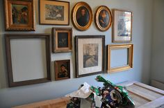 GalleryWall10 by MrsLimestone, Love the collection of guilded frames.