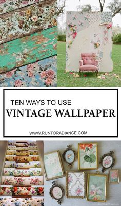 Love this smart round up of ten ways to use vintage wallpaper. I would love love LOVE to use it on the stairs!