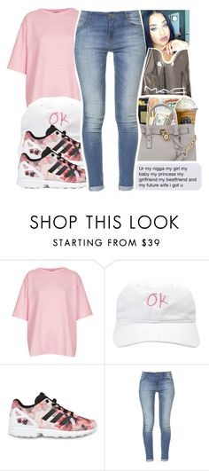 """""""but they still trust yooou , they still  witchu. """" by glowithbria ❤ liked on Polyvore featuring Topshop, adidas Originals, Zara, women's clothing, women, female, woman, misses and juniors"""