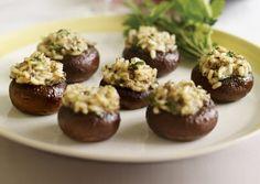 Risotto-Stuffed Mushrooms from @Vegetarian Times #MeatlessMonday #Mushrooms