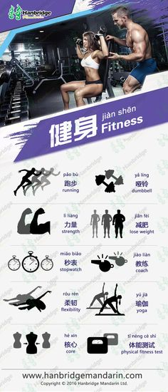 Chinese vocabulary about Fitness