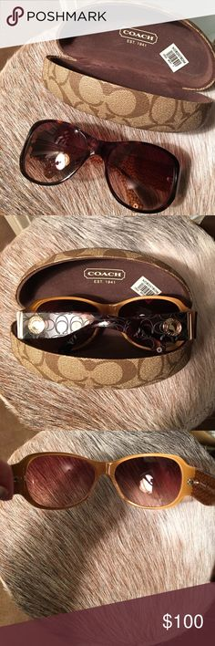 Coach Sunglasses 😎 Coach Tortoise Color Sunglasses NWT from Nordstrom. Beautiful sunglasses. Great Quality. Designer name. For more than any deal you will find on a discount. Gold Hardware. Similar to the Carter Design. Coach Accessories Sunglasses