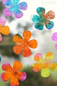Spring activities for preschoolers - coffee filter flowers