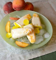 Peaches and Cream Popsicles