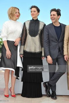 Lea Seydoux, Marion Cotillard and Xavier Dolan attend the 'It's Only The End Of The World (Juste La Fin Du Monde)' Photocall during the 69th annual Cannes Film Festival at the Palais des Festivals on May 19, 2016 in Cannes, France.