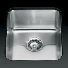Kohler 3330-NA Undertone Medium Deep Undercounter Single Basin Kitchen Sink