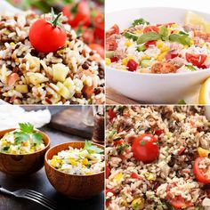 Want easy summer salad recipes? See my list of the best healthy salads for appetizers and lunch. Plus the best salads for cookouts, outdoor parties, and picnics. | sipbitego.com Greek Orzo Salad, Pasta Salad With Tortellini, Summer Pasta Salad, Summer Lunch Recipes, Best Summer Salads, Make Ahead Salads, Healthy Salads, Healthy Food, Asparagus Salad
