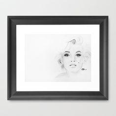 Marilyn Monroe Framed Art Print by Paint The Moment -