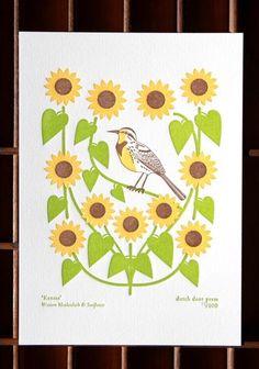 Kansas Meadowlark Print