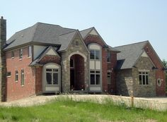 Best Good Looking Home Design Using Weathered Wood Shingles Weathered Wood Shingles With Red Brick 400 x 300