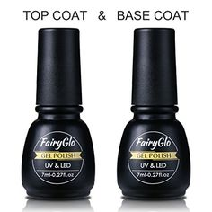 FairyGlo Base Top Coat UV Gel Nail Polish Starter Kit Soak Off Led Lamp Builder Gel Nail Varnish Foundation 7ml Clear -- More info could be found at the image url.Note:It is affiliate link to Amazon.