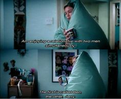 """""""Am enjoying a relationship with two men simultaneously. THe first is called Ben, the other Jerry."""" #BridgetJones"""