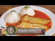 Plněné Papriky - Nejlepší recept u nás - YouTube Veggies, Food And Drink, Cheese, Homemade, Meat, Cooking, Kitchen, Recipes, Youtube