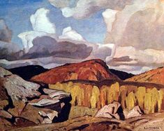Casson Hills at Bancroft Group Of Seven Artists, Group Of Seven Paintings, Emily Carr, Canadian Painters, Canadian Artists, Tom Thomson Paintings, Country Artists, Beautiful Artwork, Landscape Art