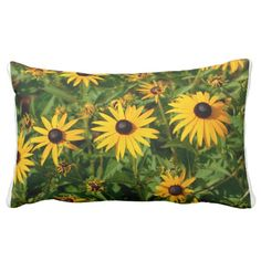 Blackeyed Susan Flowers Pillow