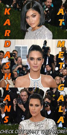 Kendall Jenner,Kylie Jenner, Kim Kardashian, Kardashian at Met Gala 2016 Art Costume, Costume Institute, Kendall And Kylie Jenner, Spam, Latest Fashion Trends, Kim Kardashian, Cave, Bb, Beauty Hacks