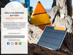 Extend your adventure with the super portable BioLite Solar... IFTTT reddit giveaways freebies contests