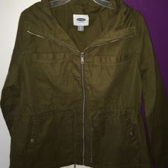 Olive Green Jacket Old navy olive green jacket. Never been used. Old Navy Jackets & Coats