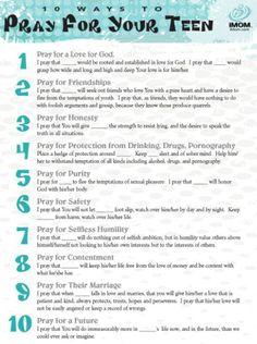 Prayer for Teens