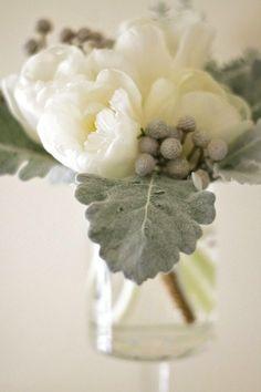 white tulips. Beautiful center piece