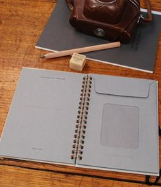 fabulous notebook with envelopes inside
