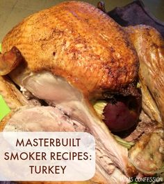 Perfectly Smoked Turkey + Meal Planning Tips for Thanksgiving - Looking for Masterbuilt smoker recipes? You're in the right place! This Masterbuilt smoked turkey - Masterbuilt Smoked Turkey, Masterbuilt Recipes, Masterbuilt Smoker, Smoked Meat Recipes, Grilling Recipes, Pork Recipes, Chicken Recipes, Oven Recipes, Easy Recipes