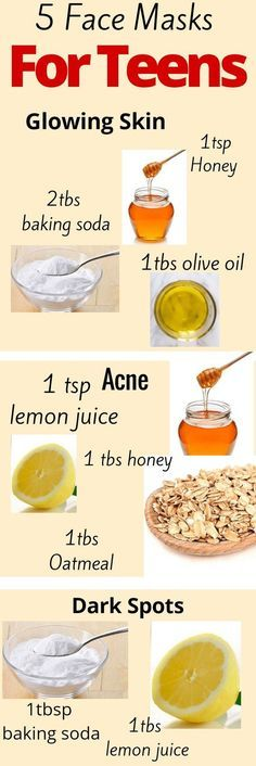 5 Homemade face mask for teens.