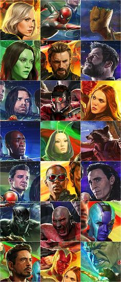 The Heroes of Avengers Infinity War