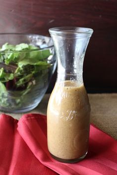 Healthy Dijon Vinaigrette recipe. A healthy salad dressing with no sugar added.