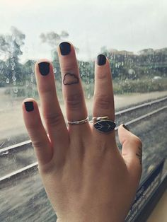 Small Cloud Finger Tattoo for Women