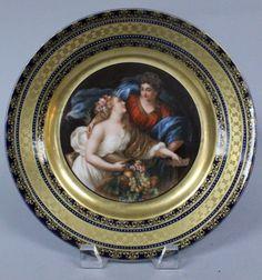 Royal Vienna  Porcelain (Austria)    —      Scenic Plate  (600x642)