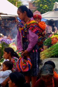 Shopping in Chichicastenango ('Chichi') Guatemala.