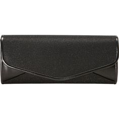 J. Furmani Sparkling Flap Clutch Clutche ($30) ❤ liked on Polyvore featuring bags, handbags, clutches, purses, black, evening bags, chain purse, vegan leather handbags, man bag and sparkly purses