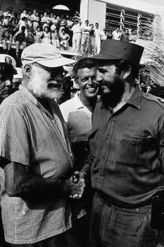 Ernest Hemingway and Fidel Castro...