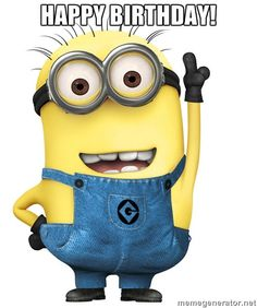 Minion Happy Birthday T may all your wishes come true have a great birthday xxx