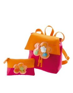 8b246c6bc0e Pink and orange Agatha Ruiz de la Prada backpack.