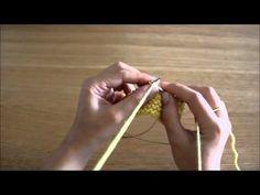 """Curso trico - Querido Tricot: diminuição """"passar, passar, tricotar meia"""" (ssk) - YouTube"""