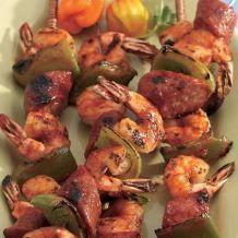 Grilled Shrimp and Sausage Kabobs Recipe