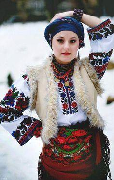 Krasa, Ukraine (I often tie my head wrap this way. It is super pretty and comfy. ~Renata) #PutDownYourPhone #Carde