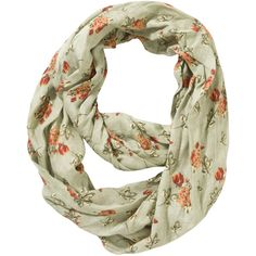 F Lightweight Floral Snood ($7.91) ❤ liked on Polyvore