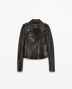 ZARA - WOMAN - LEATHER BIKER JACKET