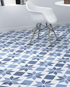 Sanitair en Tegels Portugese Tegels Blauw Wit 30x30 cm Aparici Vanguard Vloertegel