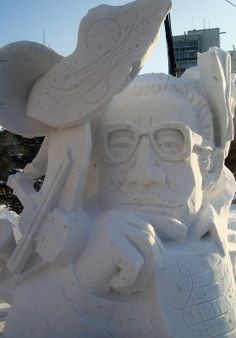 """Songwriter"" - one of the works of the festival of a snow sculpture-2014 in Novosibirsk. Photo Igor Maranin (Brombenzol) (http://www.liveinternet.ru/users/brombenzol)"