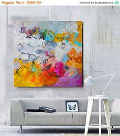 Abstract painting on canvas Modern art abstract by GabiGerArt