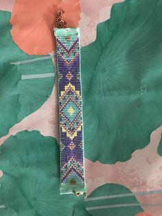Beautiful handmade Miyuki bracelet from By Adinda in purple