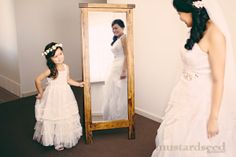 CUTENESS!! An adorable moment between the bride Senaya and her gorgeous daughter Adalyn