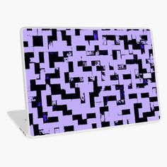 """""""Line Art - The Bricks, tetris style, purple and black"""" Laptop Skin by cool-shirts 