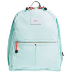 Women's State Bags Kent Backpack ($80) ❤ liked on Polyvore featuring bags, backpacks, honeydew, blue bag, blue backpack, knapsack bag, woven bag and backpack bags